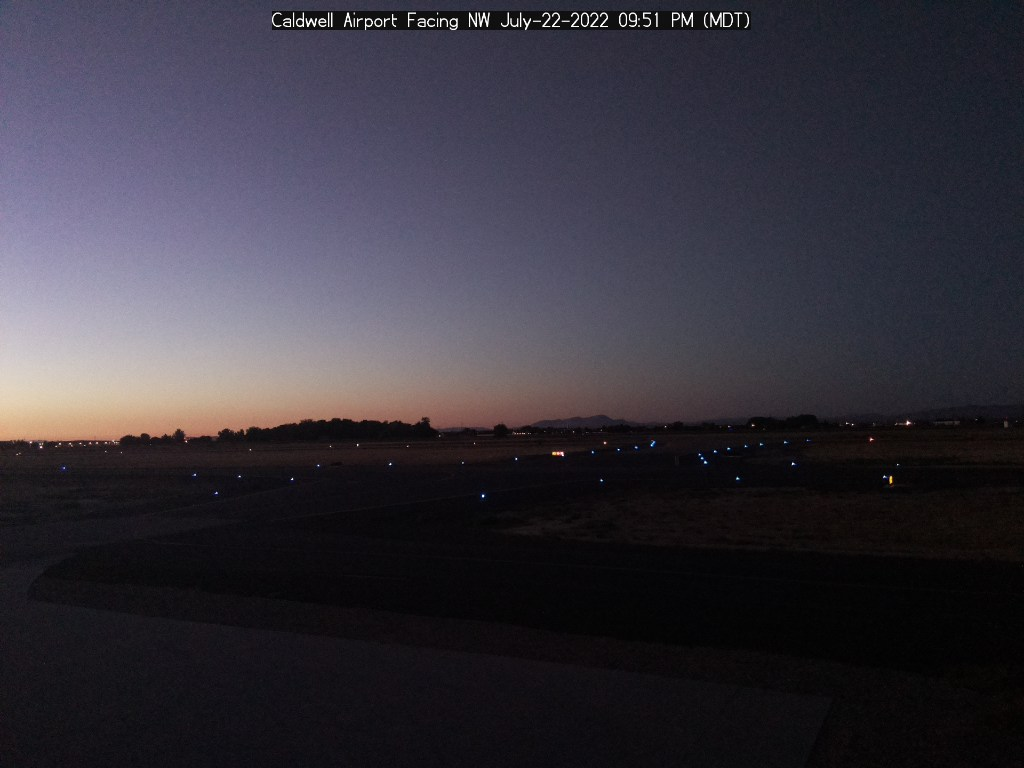 Picture of Caldwell airport web cam looking northwest