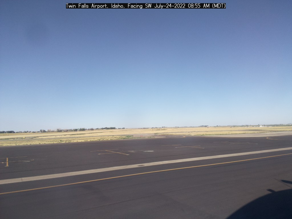 Picture of Twin Falls Airport web cam looking southwest